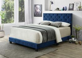 blue bed display
