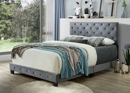 light grey bed display