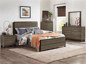 wooden 5-piece bedroom set
