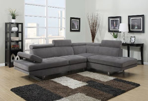 grey couch display
