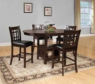 black wooden 4 person dining room set