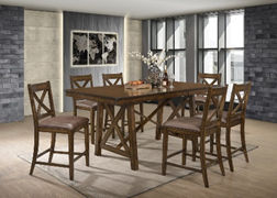 light brown wooden 6 seat dining room set