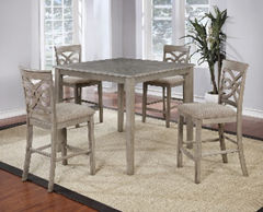 grey 4 person dining room set