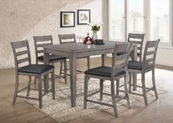 grey 6 seat dining room set