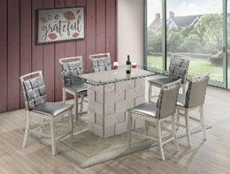 light grey 6 seat dining room set