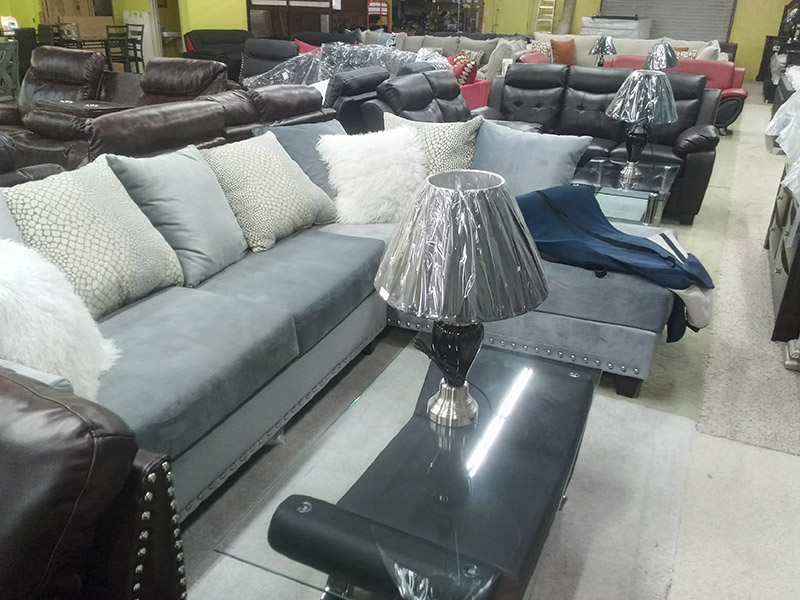 large display of various couches, sectionals and chairs from Best Deal Furniture