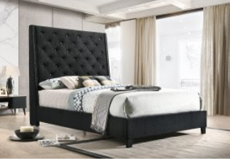 black bed display