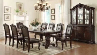 black wooden 8-seat dining room set