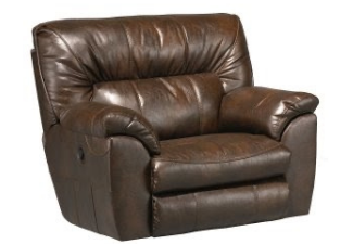 light brown leather reclining single chair